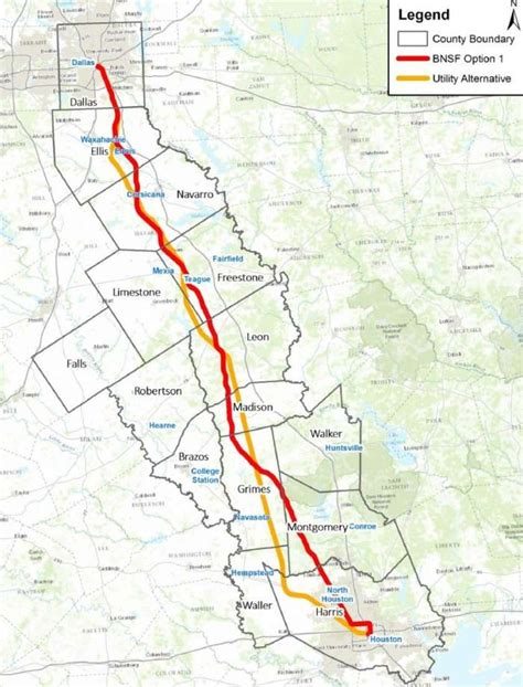 texas central railway map high speed rail would connect houston dallas houston chronicle