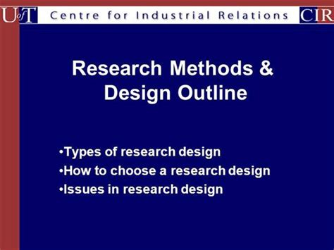 design experiment ppt types of research designs authorstream