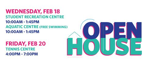 zillow open house join us at upcoming recreation open houses ubc recreation