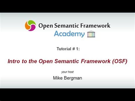 semantic web tutorial youtube osf reference architecture osf wiki