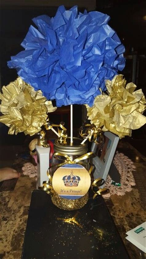 Prince Baby Shower Centerpieces by Diy Baby Prince Baby Shower Centerpiece Diy