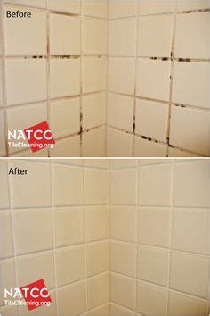cleaning dirty bathroom tiles before and after colorsealing grout using custom building