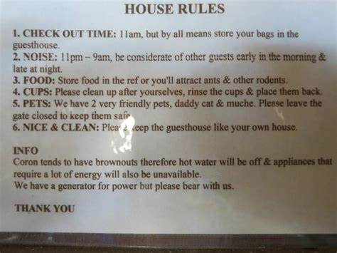 house rules holland toilet house rules picture of patrik tezz guesthouse coron