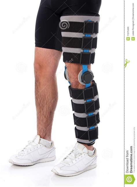 leg brace wearing a leg brace royalty free stock image image 11375466