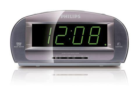 philips aj3540 dual alarm clock fm am radio big display numbers ebay