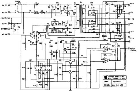 atx power supply schematic diagram wiring diagram and