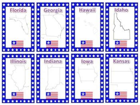 printable flash cards united states states and capitals trading card activities them states