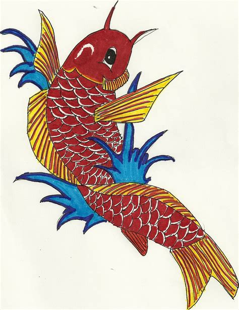 cartoon koi fish tattoos clipart best