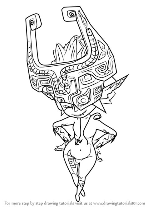 How To Draw Midna Easy learn how to draw midna from the legend of the