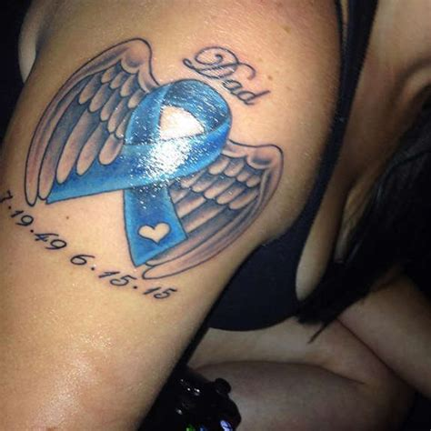 wing memorial tattoos arm cancer images designs