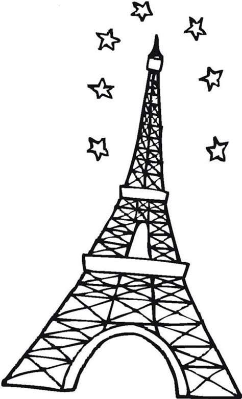 eiffel tower coloring pages eiffel tower coloring page clipart best