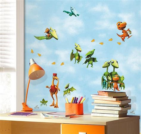 murals for bedrooms kids bedrooms with dinosaur themed wall art and murals