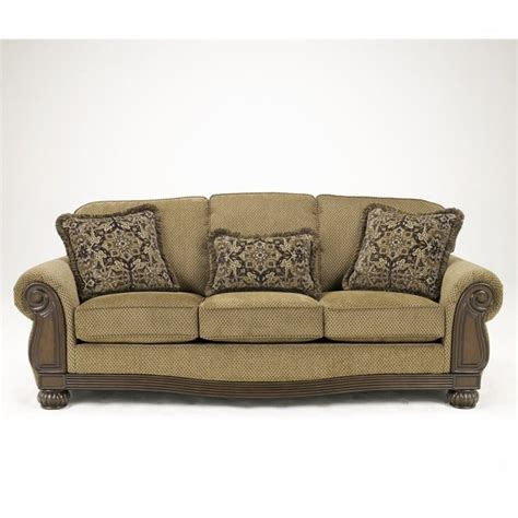 ashley fabric sofa ashley lynnwood fabric sofa in amber 6850038