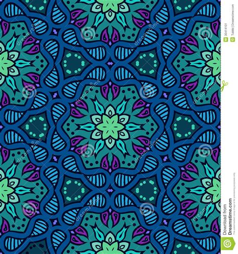 20973 Bold Retro Pattern S M L bold pattern with indian motifs stock vector image 30414101