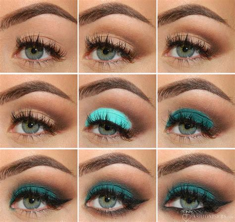 eyeliner tutorial for green eyes emerald green eye makeup tutorial with a matte effect