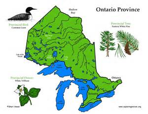 map of ontario province canada canadian province ontario
