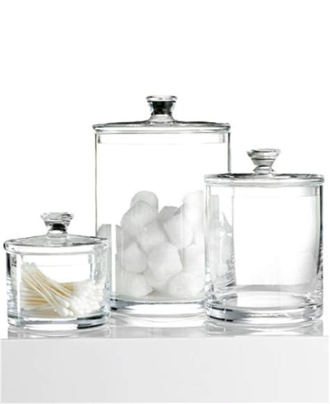what to put in glass jars in bathroom hotel collection glass jar collection only at macy s