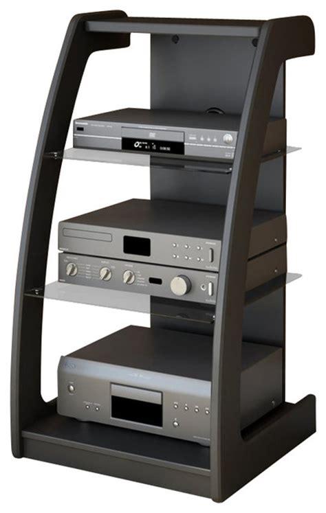 Small Media Shelf sonax milan black three shelf component stand