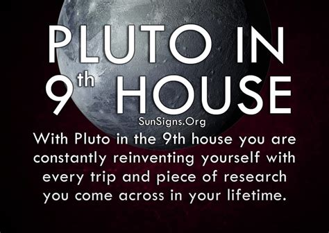 9th house pluto in 9th house meaning sun signs