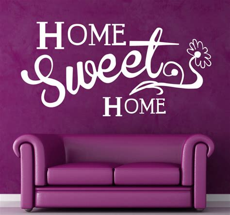 home sweet home vinyl sticker tenstickers