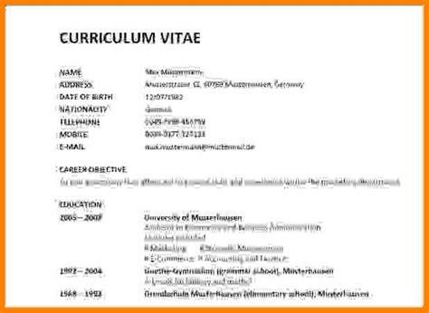 Cv Englisch Muster by 5 Curriculum Vitae Vorlage Quest Ccc