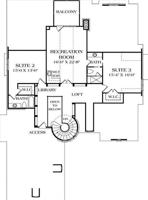 house plans with library turreted stair in two story library 17509lv 1st floor