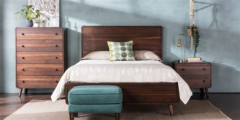 Midcentury Bedroom by Customizable Mid Century Bedroom With Xander Bed Living