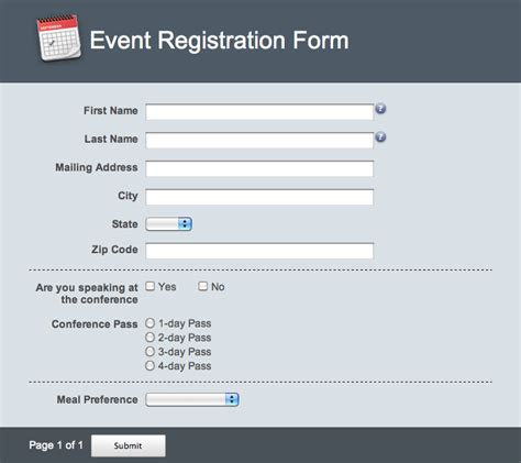 design online forms best photos of online registration form exles online