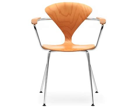 metal armchair cherner metal leg arm chair hivemodern com