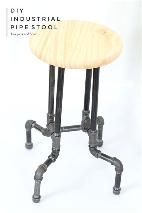 Iron Pipe Bar Stool by 31 Diy Barstools You Need To Make For Your Home