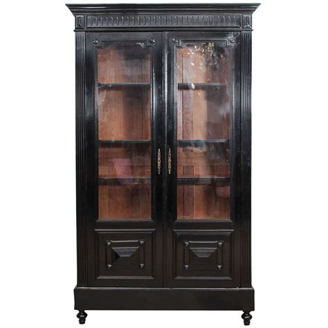 French Bookcase Small 19th C Ebonized French Bookcase At 1stdibs