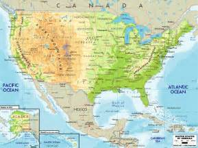 Physical Map Of The Usa by Large Physical Map Of Usa