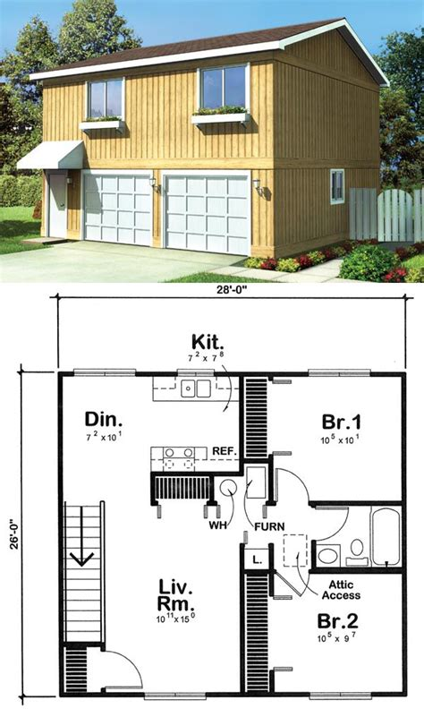 live in garage plans garage apartment plan 6015 has 728 square feet of living