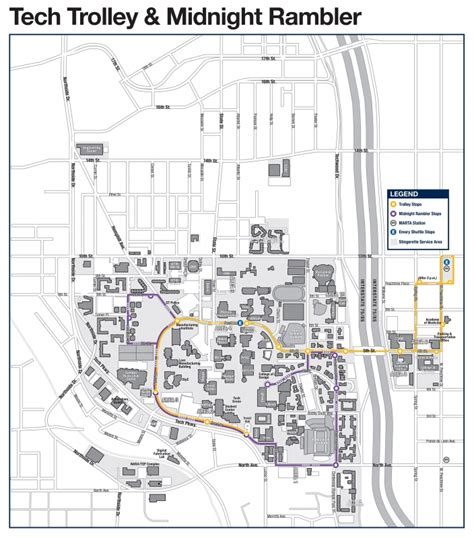 gatech map tech trolley and midnight rambler parking transportation services institute of