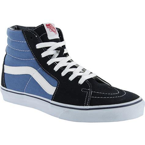 Jual Vans Sk 8 Hi Navy vans sk8 hi skate shoes navy white vans clothing vans skate wear hats socks t shirts