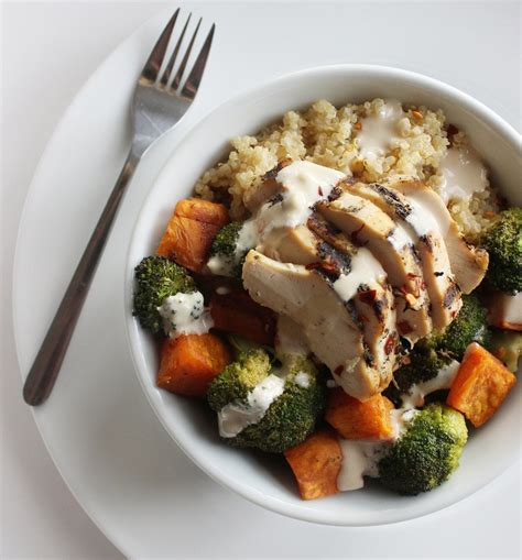 protein quinoa bowl chicken and vegetable quinoa bowl best healthy recipes