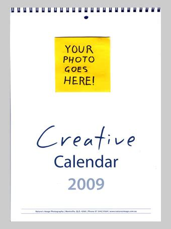 how to make a personal calendar with pictures 2009 calendar nature s image photography weblog