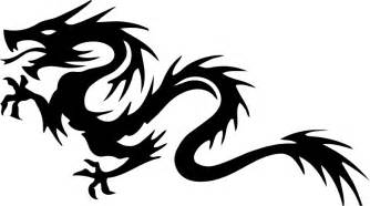 clipart tribal dragon 26