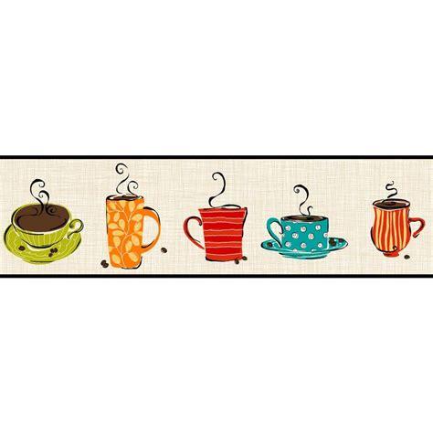 coffee shop wallpaper borders york wallcoverings bistro 750 coffee mug wallpaper border