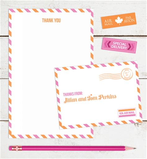 printable thank you notes uk print it yourself airmail thank you notes how about orange