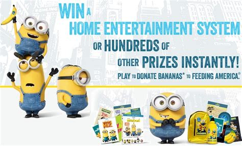 Minions Love Bananas Instant Win - chiquita minions sweepstakes instant win game sweepstakesbible
