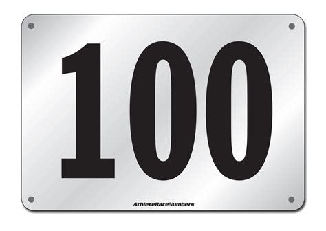 Generic Large Race Number Black And White Race Number Template