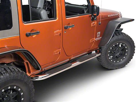 redrock 4x4 4in curved oval wrangler side step stainless