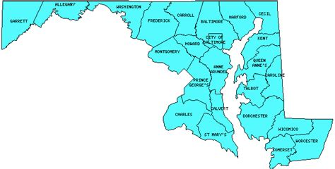 maryland counties map maryland counties outline map