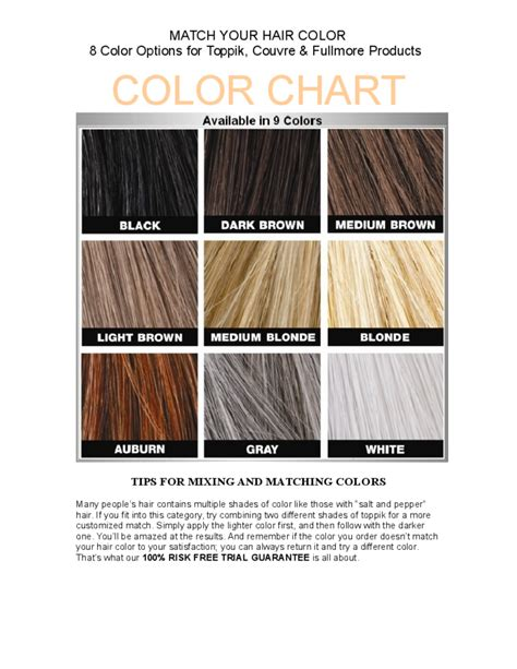 hair color matcher hair color match chart free download
