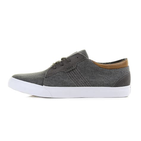mens reef ridge tx charcoal grey casual smart canvas shoes