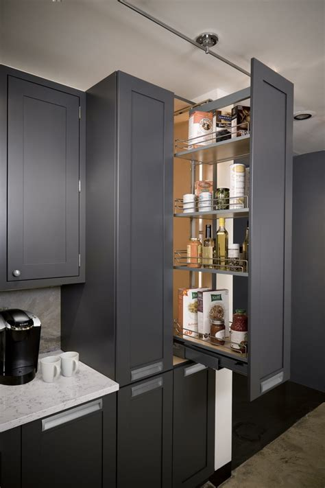kitchen cabinets pull out pantry there is so much storage space in a pullout pantry unit