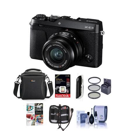 Fujifilm X E3 Black Kamera Mirrorless Kamera Fuji Limited fujifilm x e3 mirrorless with xf 23mm f 2 lens black w free acc bundle