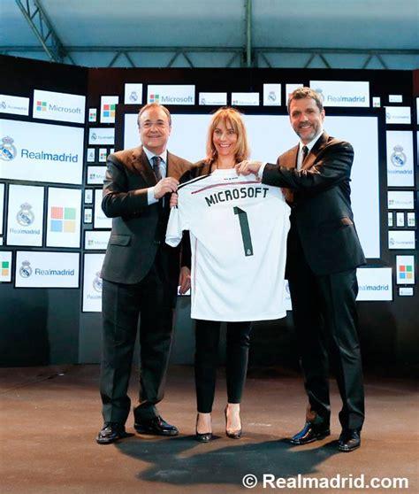 Microsoft Real Madrid microsoft nouveau partenaire du real madrid contre 25