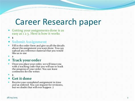 Career Research Essay by Career Research Paper